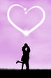 Silhouette of romantic couple 2