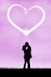 Silhouette of romantic couple 3