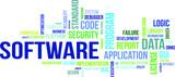 word cloud - software