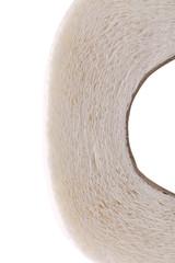 Clean white toilet paper.