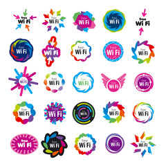 biggest series of vector logos Wi fi