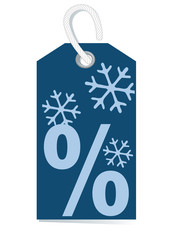 decorative price label, percentage sign, winter sale,trendcolour