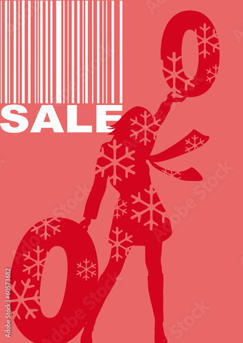 sale, vector, red