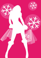 Dekorativer Banner, Winterschlussverkauf, Sale
