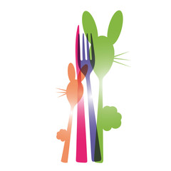 menu, banner, vektor, fork, spoon, knife, eastern