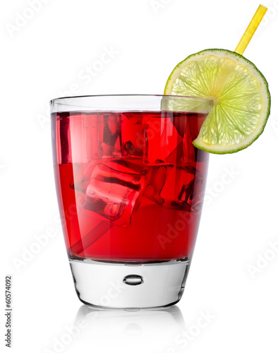 Red alcohol cocktail