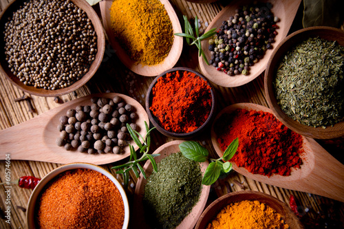 Fototapety, obrazy : Assorted spices