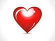 abstract glossy red heart