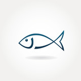 Fish icon or symbol