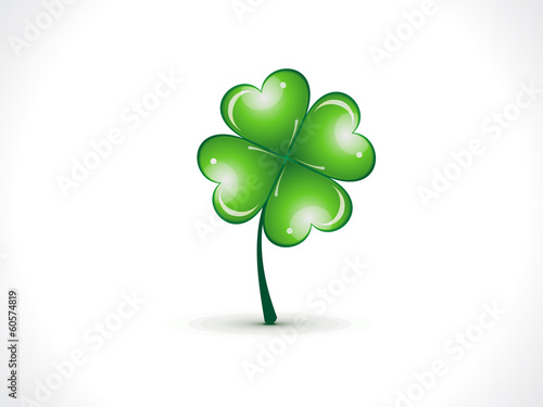 abstract st patrick clover