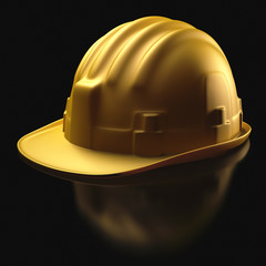Hard hat over black. Clipping path included.