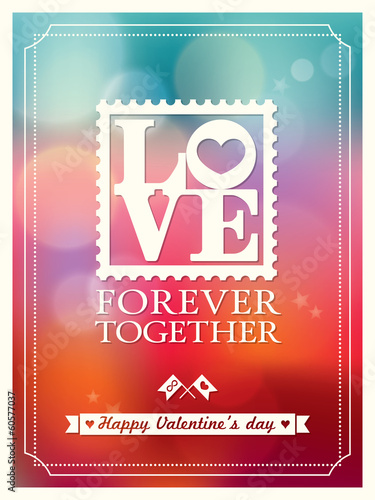 Valentine's day and wedding LOVE word Bokeh Background