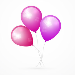 Pink, Purple Vector Balloons
