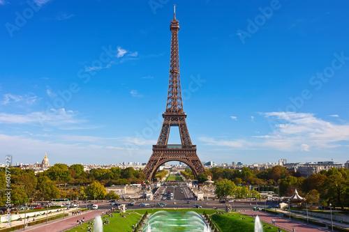 Panel Szklany Eiffel Tower in Paris