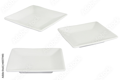 White Square Dish