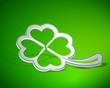 Four-leaf clover shape from paper