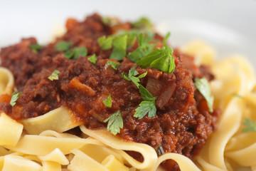 tagliatelle with ragu bolognese sauce