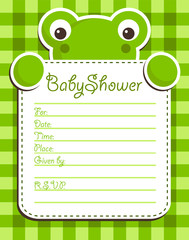 Baby Shower Frog Invitation Card