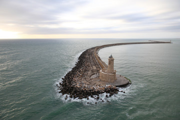 Breakwater and Lighthouse Italy