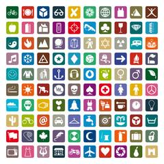 Symboles et pictogrammes pour internet