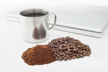 Coffee Beans and Soluble Coffee