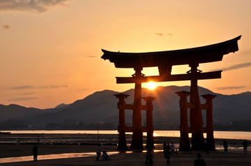 Great torii of Miyajima, Japan