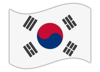 Nationalflagge Südkorea, symbolisch