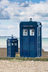 Two police boxes