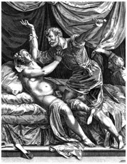 History Ancient Rome scene : Lucretia Raped