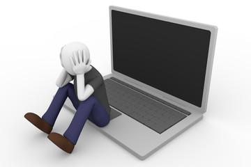 desperate man laptop