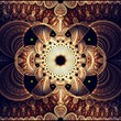 Symmetrical fractal flower, digital artwork for creative graphic