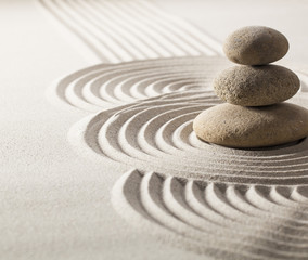 zen stillness and wellness with sand and stones garden