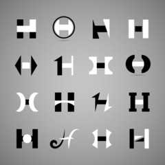 Unusual Letters Set - Isolated On Gray Background