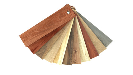 Flooring laminate or parqet samples