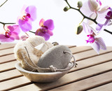 cure of exfoliation at beauty spa poster