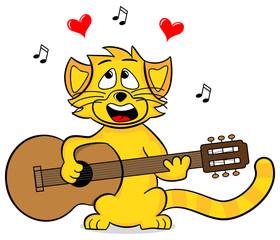 Katze singt Liebeslieder