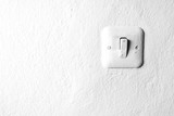 White wall with electric switch