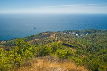 Landscape near Katsiveli resort in Crimea, Ukraine