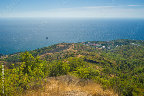 Landscape near Katsiveli resort in Crimea, Ukraine