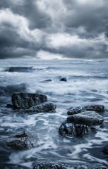 ocean coast rocks