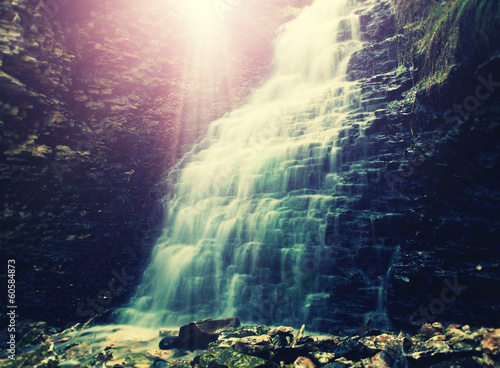 magical waterfall