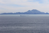 Atlas Mountains and ships in the Straits of Gibraltar