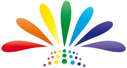 Störer - Blume - Farben Chakra - Logo