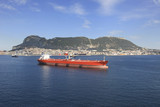 Oil Tanker and Gibraltar