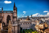 City View from Giralda Tower Seville Cathedral Spain