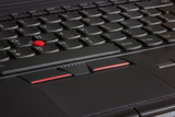 Laptop keyboards with pointing stick and fingerprint reader deta