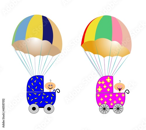 baby delivery by parachute