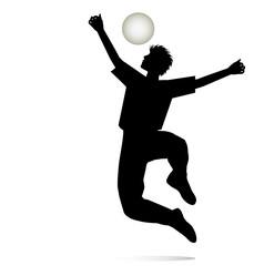 silhouette di fanciullo che esulta giocando con la palla