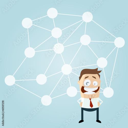 soziales netzwerk business mann