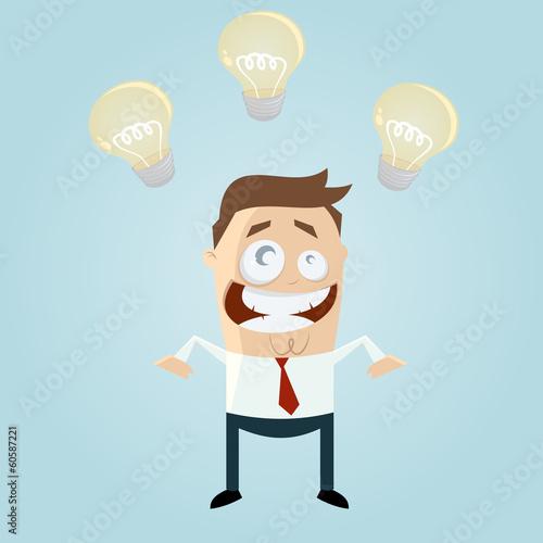 idee business mann cartoon